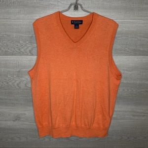 Orange Brooks Brothers Supima Cotton Sweater Vest